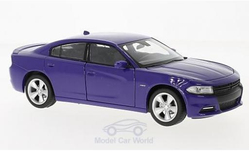Dodge Charger 1/24 Welly R/T lila 2016 miniature