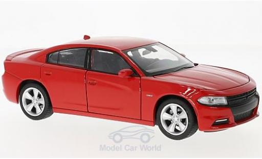 Dodge Charger 1/24 Welly R/T red 2016 diecast model cars