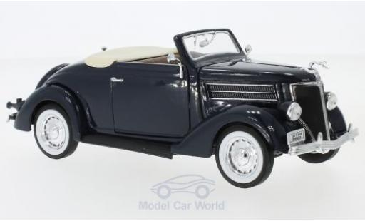 Ford Deluxe 1/24 Welly Cabriolet dunkelbleue 1936 miniature