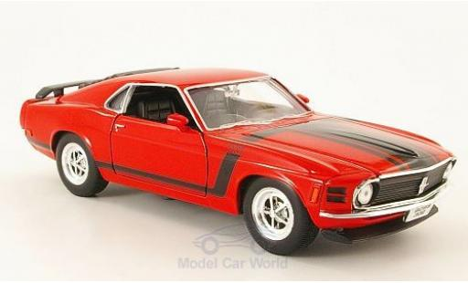 Ford Mustang 1/24 Welly Boss 302 rouge/Dekor 1970 ohne Vitrine miniature