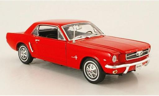 Ford Mustang 1/18 Welly Coupe rouge 1964 miniature