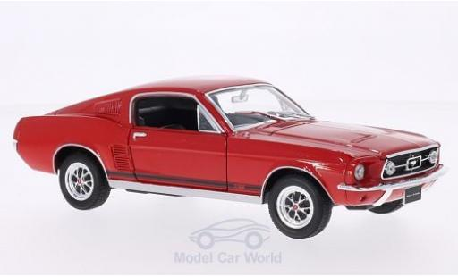 Ford Mustang GT 1/24 Welly Fastback rouge 1967 miniature