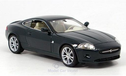 Jaguar XK 1/24 Welly 150 Coupe metallise verde ohne Vitrine modellino in miniatura