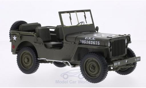 Jeep Willys 1/18 Welly matt-oliv U.S. Army offen miniature