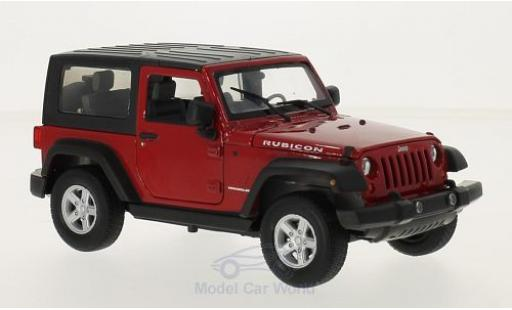Jeep Wrangler 1/24 Welly rouge miniature