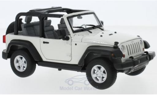 Jeep Wrangler 1/24 Welly Rubicon blanche 2007 miniature
