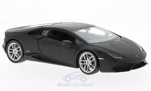 Lamborghini Huracan 1/24 Welly LP 610-4 matt-noire miniature