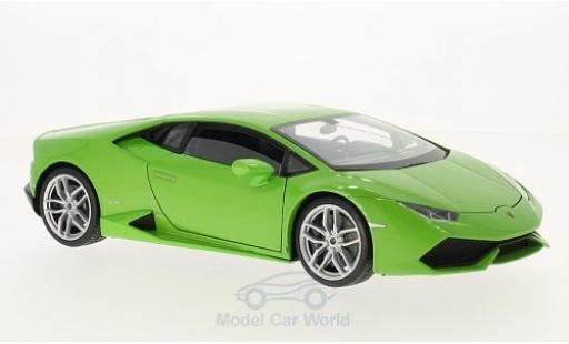 Lamborghini Huracan 1/18 Welly LP 610-4 metallise green diecast model cars