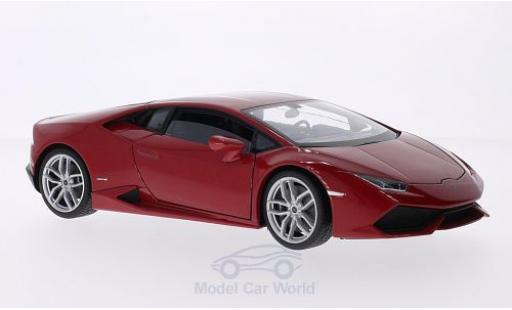 Lamborghini Huracan 1/18 Welly LP 610-4 métallisé rouge 2014 miniature