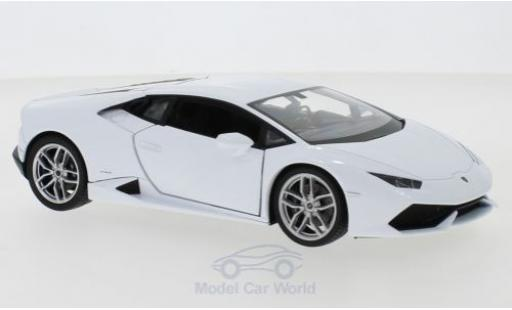 Lamborghini Huracan 1/24 Welly LP 610-4 white diecast model cars