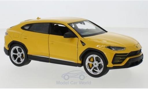 Lamborghini Urus 1/24 Welly yellow diecast model cars