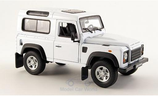 Land Rover Defender 1/24 Welly blanche miniature