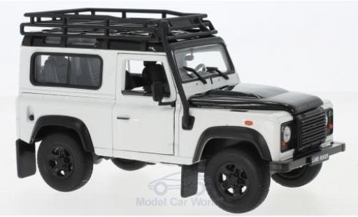 Land Rover Defender 1/24 Welly white/black mit Dachgepäckträger diecast model cars