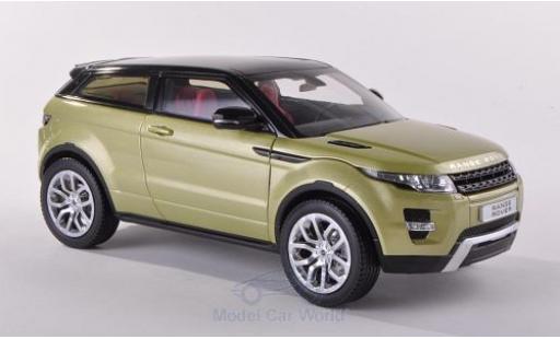 Land Rover Range Rover 1/18 Welly Evoque metallise verte/noire ohne Vitrine miniature