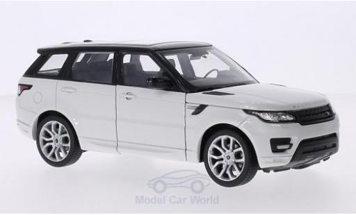Land Rover Range Rover 1/24 Welly Sport blanche/noire miniature