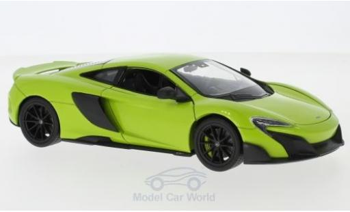 McLaren 675 1/24 Welly LT green diecast model cars