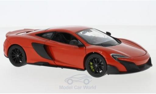 McLaren 675 1/24 Welly LT red diecast model cars