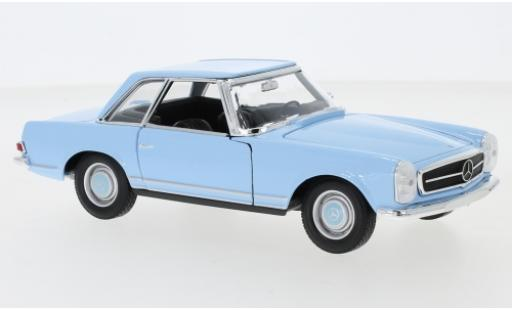 Mercedes 230 1/24 Welly SL (W113) blue 1963 diecast model cars