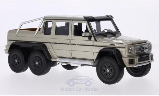 Mercedes Classe G 1/24 Welly G63 AMG 6x6 metallise beige miniature