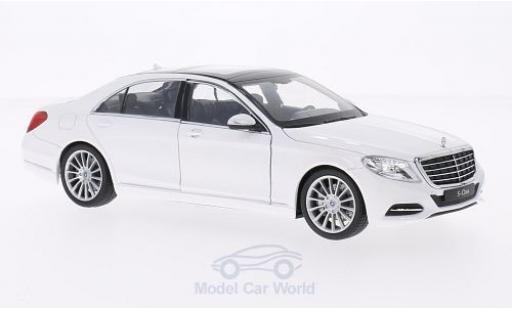 Mercedes Classe S 1/24 Welly (W222) white 2013 diecast model cars