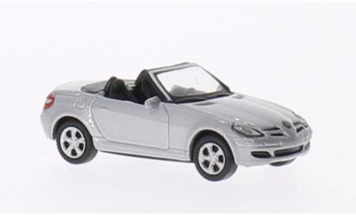 Mercedes Classe SLK 1/87 Welly SLK 350 metallise grigio Verdeck ouvert modellino in miniatura