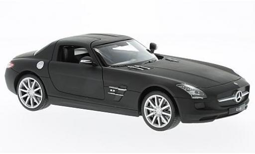 Mercedes SLS 1/24 Welly AMG (C197) matt-noire sans Vitrine miniature