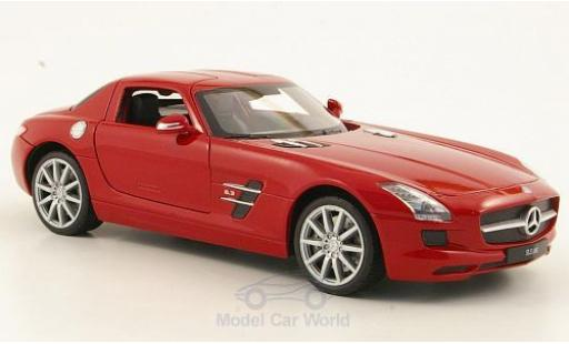 Mercedes SLS 1/24 Welly AMG (C197) rouge miniature