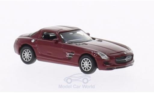 Mercedes SLS 1/87 Welly AMG dunkelrouge miniature