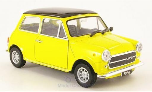 Mini Cooper 1/24 Welly 1300 yellow/black 1974 diecast model cars