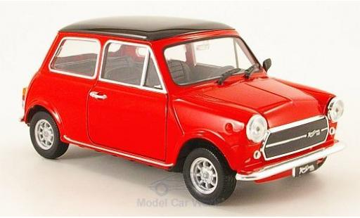 Mini Cooper 1/24 Welly 1300 rouge/noire 1974 ohne Vitrine