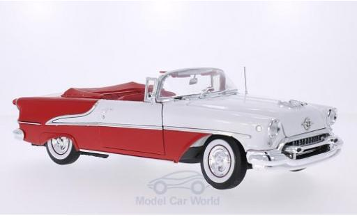 Oldsmobile Super 88 1/18 Welly rouge/blanche 1955 miniature