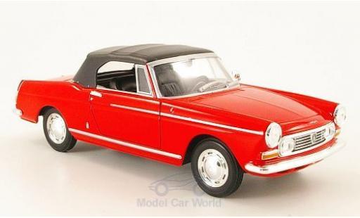 Peugeot 404 Cabriolet 1/24 Welly rouge 1963 geschlossen miniature