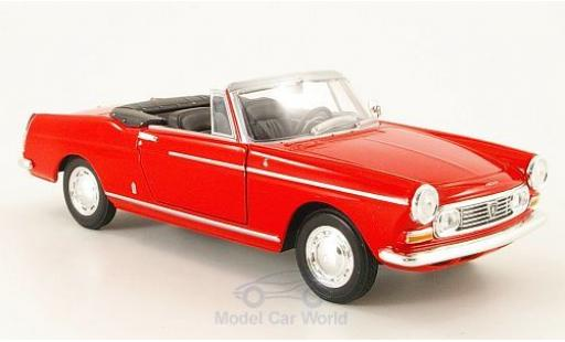 Peugeot 404 1/24 Welly Cabriolet rouge 1963 ohne Vitrine miniature