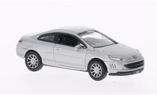 Peugeot 407 1/87 Welly Coupe grise miniature