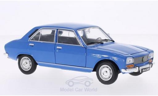 Peugeot 504 1/24 Welly bleue 1975 ohne Vitrine miniature