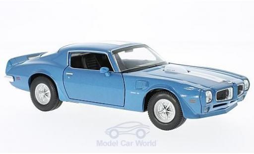 Pontiac Firebird 1972 1/24 Welly Trans Am bleue/blanche miniature