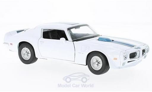 Pontiac Firebird 1972 1/24 Welly Trans Am blanche/bleue miniature