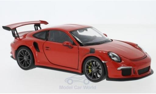 Porsche 991 GT3 RS 1/24 Welly 911  orange 2015 diecast model cars