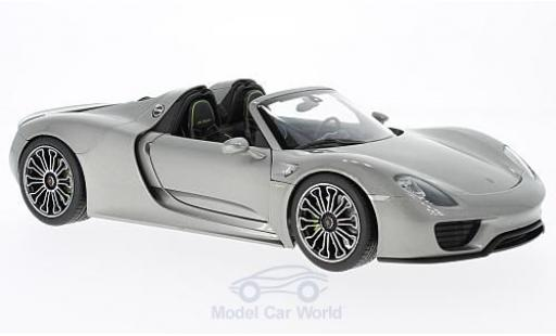 Porsche 918 1/18 Welly Spyder grise 2011 miniature