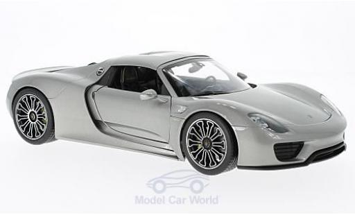 Porsche 918 1/18 Welly Spyder grise 2011 Hard Top miniature
