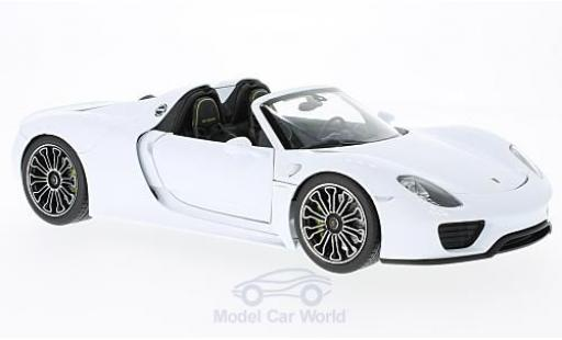 Porsche 918 1/18 Welly Spyder white 2011 diecast