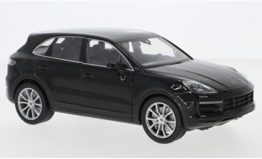 Porsche Cayenne Turbo 1/24 Welly noire miniature