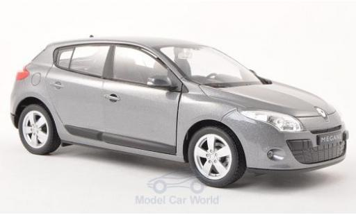 Renault Megane 1/24 Welly métallisé grise 2009 miniature