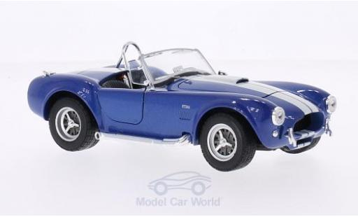 Shelby Cobra 1/24 Welly 427 SC métallisé bleue/blanche 1965 miniature