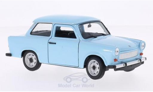 Trabant 601 1/24 Welly bleue miniature