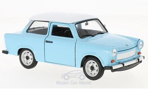 Trabant 601 1/24 Welly bleue/blanche miniature