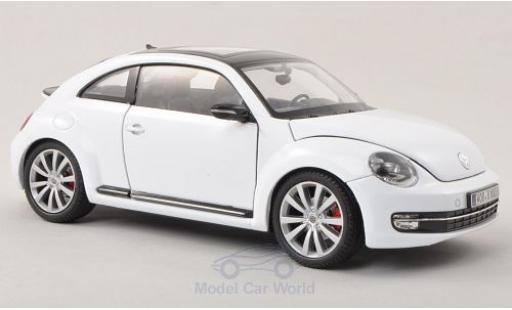 Volkswagen Beetle 1/24 Welly blanche 2012 ohne Vitrine miniature