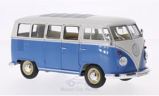 Volkswagen T1 B 1/24 Welly us bleue/blanche 1963 miniature