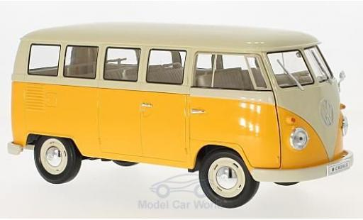 Volkswagen T1 B 1/18 Welly Bus jaune/beige 1963 miniature