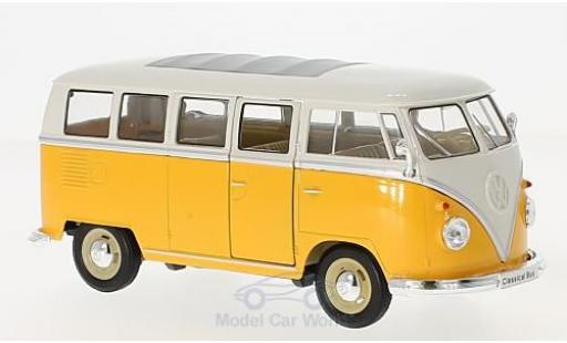 Volkswagen T1 B 1/24 Welly us jaune/blanche 1963 miniature